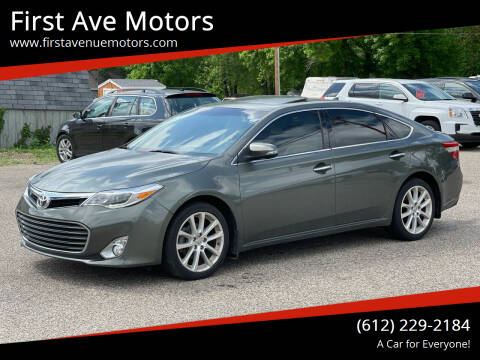 2013 Toyota Avalon for sale at First Ave Motors in Shakopee MN