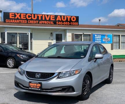 2014 Honda Civic for sale at Executive Auto in Winchester VA