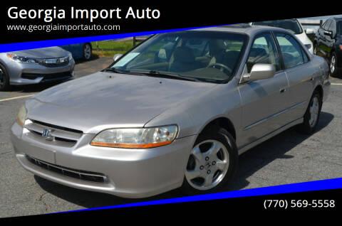 1999 Honda Accord for sale at Georgia Import Auto in Alpharetta GA