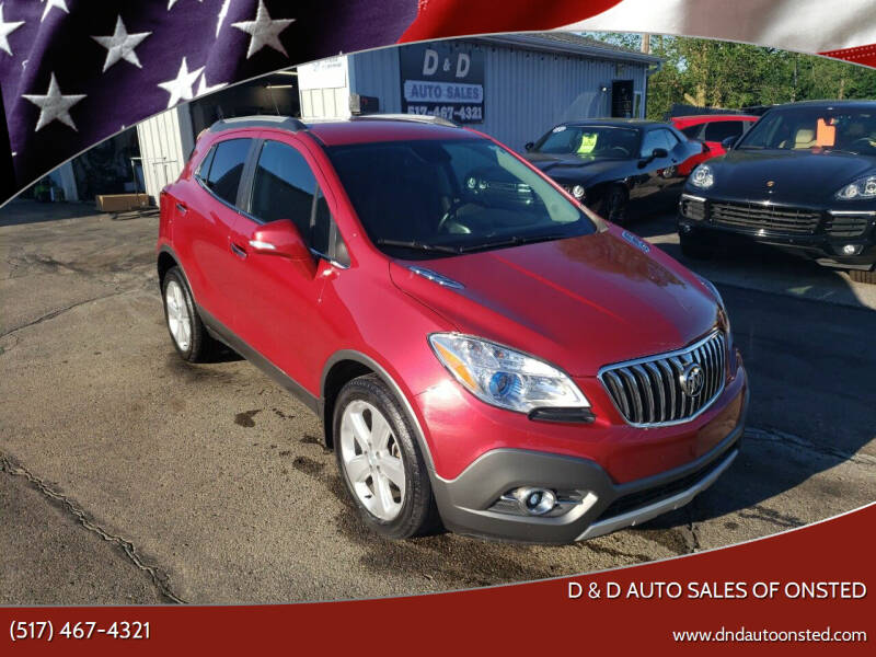 2016 Buick Encore for sale at D & D Auto Sales Of Onsted in Onsted MI