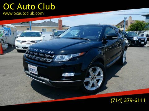 2013 Land Rover Range Rover Evoque Coupe for sale at OC Auto Club in Midway City CA