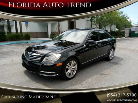 2013 Mercedes-Benz C-Class for sale at Florida Auto Trend in Plantation FL