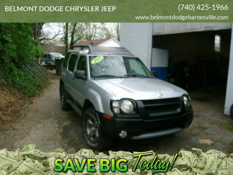 2002 Nissan Xterra for sale at BELMONT DODGE CHRYSLER JEEP in Barnesville OH