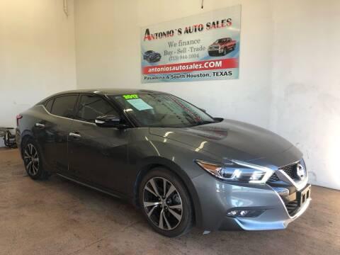 2017 Nissan Maxima for sale at Antonio's Auto Sales in South Houston TX