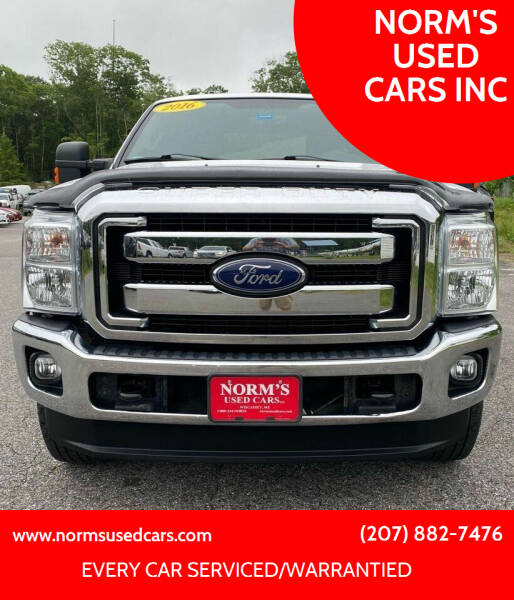 2016 Ford F-250 Super Duty for sale at NORM'S USED CARS INC in Wiscasset ME