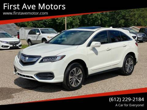 2018 Acura RDX for sale at First Ave Motors in Shakopee MN