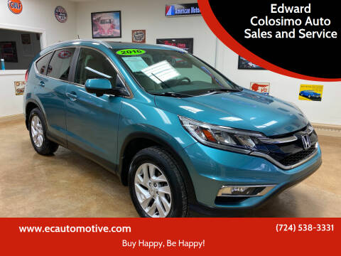 2016 Honda CR-V for sale at Edward Colosimo Auto Sales and Service in Evans City PA