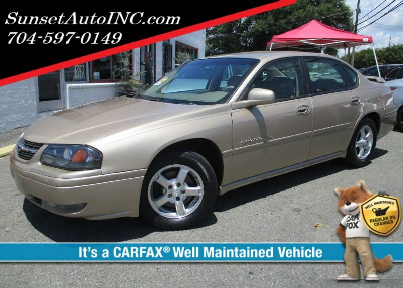 2004 Chevrolet Impala for sale at Sunset Auto in Charlotte NC