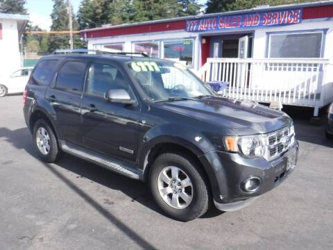 2008 Ford Escape for sale at 777 Auto Sales and Service in Tacoma WA