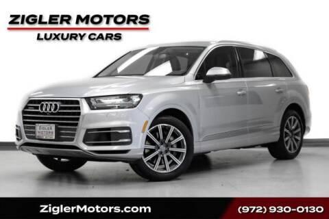 2017 Audi Q7 for sale at Zigler Motors in Addison TX