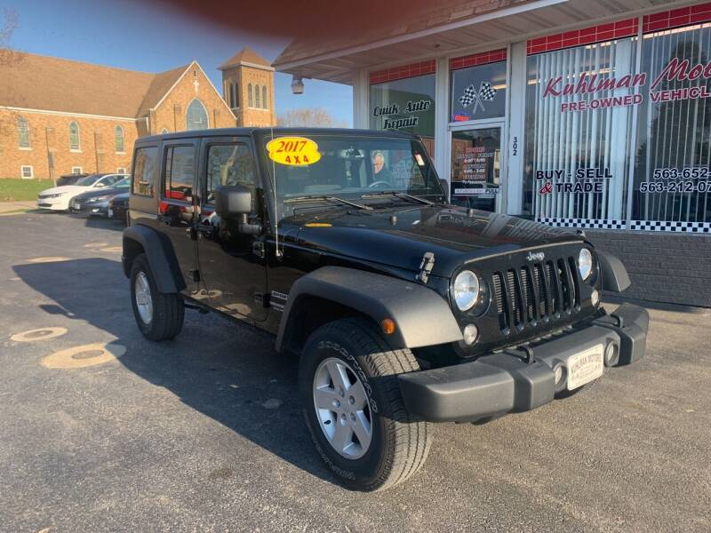 2017 Jeep Wrangler Unlimited for sale at KUHLMAN MOTORS in Maquoketa IA