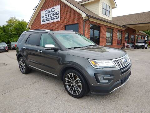 2016 Ford Explorer for sale at C & C MOTORS in Chattanooga TN