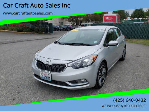 2016 Kia Forte5 for sale at Car Craft Auto Sales Inc in Lynnwood WA