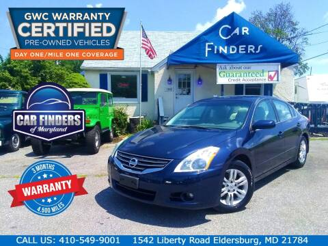 2011 Nissan Altima for sale at CAR FINDERS OF MARYLAND LLC - Certified Cars in Eldersburg MD
