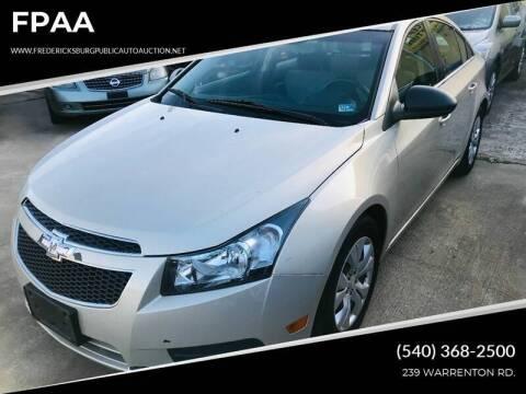 2012 Chevrolet Cruze for sale at FPAA in Fredericksburg VA