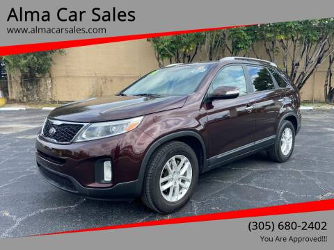 2014 Kia Sorento for sale at Alma Car Sales in Miami FL