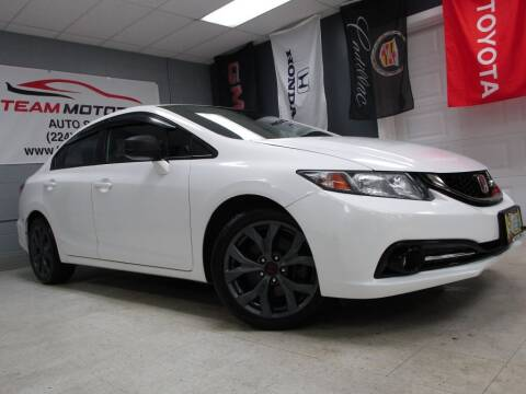 2013 Honda Civic for sale at TEAM MOTORS LLC in East Dundee IL