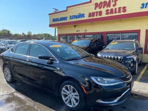2015 Chrysler 200 for sale at Popas Auto Sales in Detroit MI