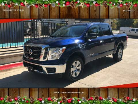 2017 Nissan Titan for sale at TEXAS MOTOR WORKS in Arlington TX