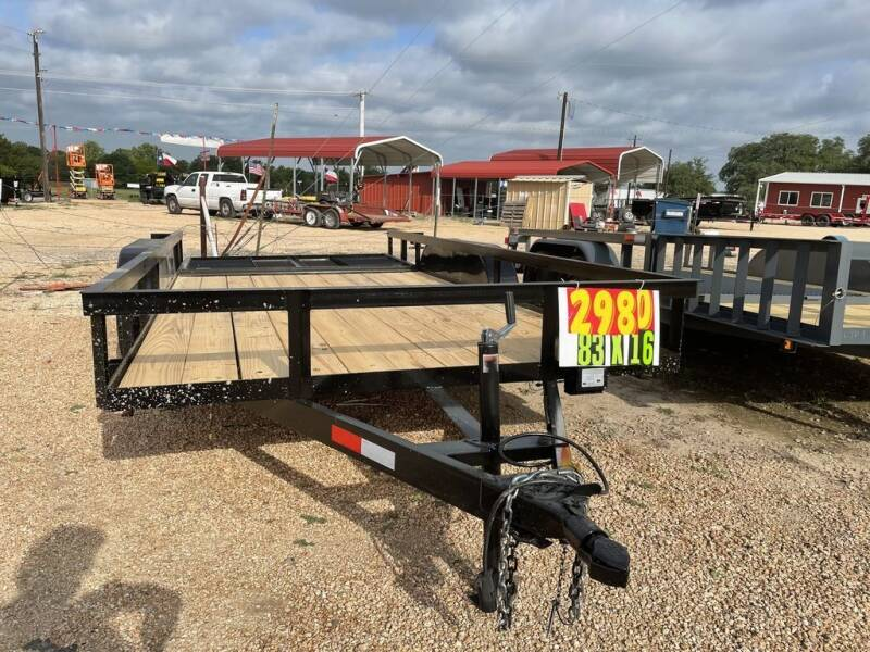 """2021 P & C  - 83"""" X 16' - IN & O for sale at LJD Sales in Lampasas TX"""