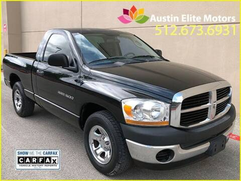 2006 Dodge Ram Pickup 1500 for sale at Austin Elite Motors in Austin TX