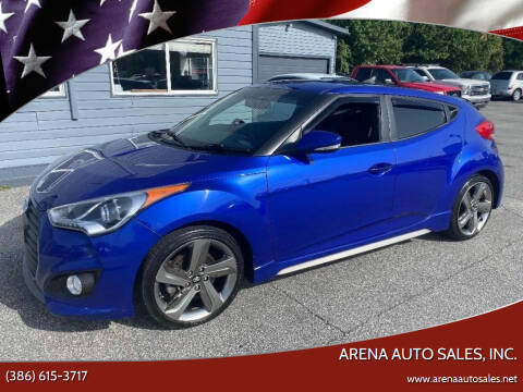 2013 Hyundai Veloster for sale at ARENA AUTO SALES,  INC. in Holly Hill FL