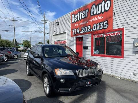 2013 BMW X3 for sale at Better Auto in Dartmouth MA