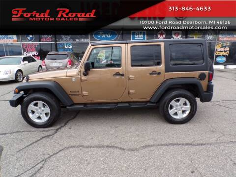 2015 Jeep Wrangler Unlimited for sale at Ford Road Motor Sales in Dearborn MI