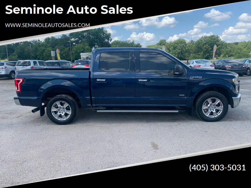 2016 Ford F-150 for sale at Seminole Auto Sales in Seminole OK
