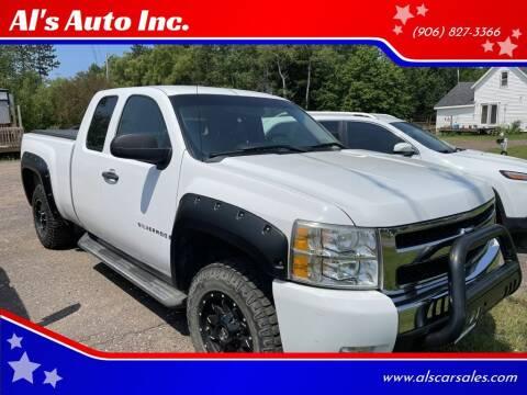 2009 Chevrolet Silverado 1500 for sale at Al's Auto Inc. in Bruce Crossing MI