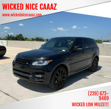2015 Land Rover Range Rover Sport for sale at WICKED NICE CAAAZ in Cape Coral FL