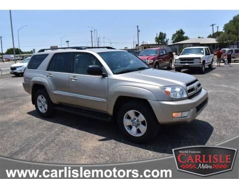 2004 Toyota 4Runner for sale at Carlisle Motors in Lubbock TX
