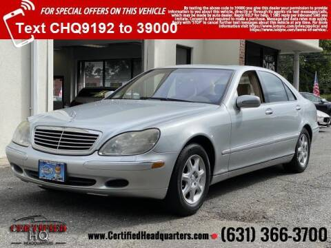 2002 Mercedes-Benz S-Class for sale at CERTIFIED HEADQUARTERS in Saint James NY