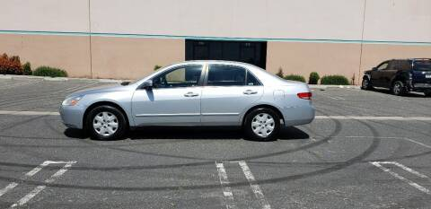 2003 Honda Accord for sale at E and M Auto Sales in Bloomington CA