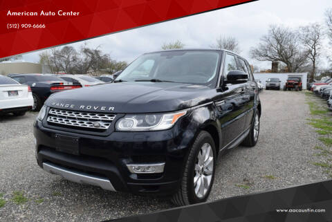 2014 Land Rover Range Rover Sport for sale at American Auto Center in Austin TX
