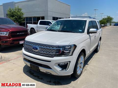 2018 Ford Expedition for sale at Meador Dodge Chrysler Jeep RAM in Fort Worth TX