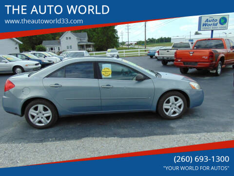 2009 Pontiac G6 for sale at THE AUTO WORLD in Churubusco IN