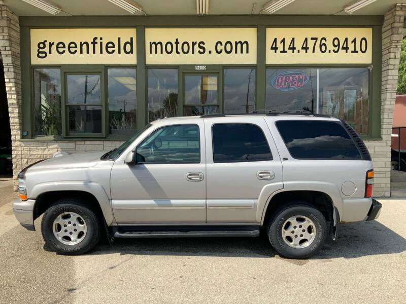 2004 Chevrolet Tahoe for sale at GREENFIELD MOTORS in Milwaukee WI