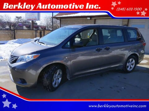 2015 Toyota Sienna for sale at Berkley Automotive Inc. in Berkley MI