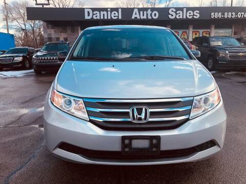 2012 Honda Odyssey for sale at Daniel Auto Sales inc in Clinton Township MI