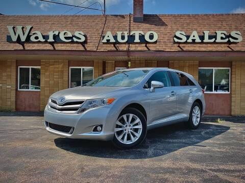 2015 Toyota Venza for sale at Wares Auto Sales INC in Traverse City MI
