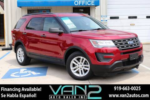 2016 Ford Explorer for sale at Van 2 Auto Sales Inc in Siler City NC
