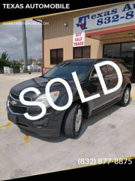 2012 Chevrolet Equinox for sale at TEXAS AUTOMOBILE in Houston TX