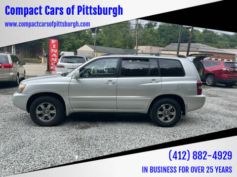 2007 Toyota Highlander for sale at Compact Cars of Pittsburgh in Pittsburgh PA