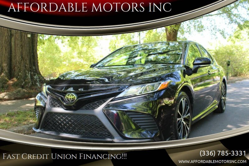 2018 Toyota Camry for sale at AFFORDABLE MOTORS INC in Winston Salem NC
