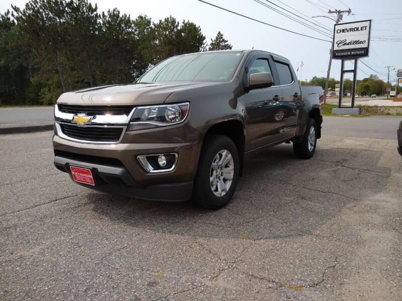 2015 Chevrolet Colorado for sale at KATAHDIN MOTORS INC /  Chevrolet & Cadillac in Millinocket ME