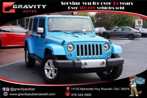 2017 Jeep Wrangler Unlimited for sale at Gravity Autos Roswell in Roswell GA