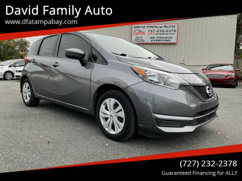 2017 Nissan Versa Note for sale at David Family Auto in New Port Richey FL