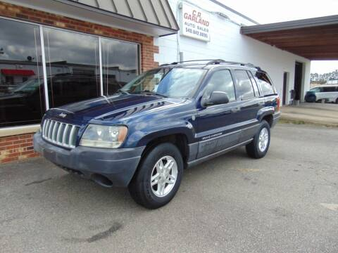 2004 Jeep Grand Cherokee for sale at CR Garland Auto Sales in Fredericksburg VA