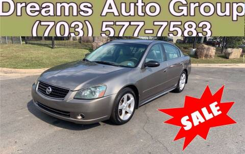 2005 Nissan Altima for sale at Dreams Auto Group LLC in Sterling VA